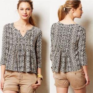 Anthropologie Vanessa Virginia peasant top blouse